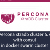 Percona xtradb cluster 5.7 with consul in docker swarm cluster