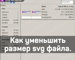 Как уменьшить размер svg файла. Svgcleaner.